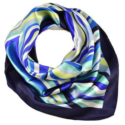 Šátek s bižuterií Letuška - modrý - 3