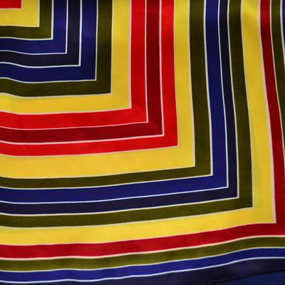 Šátek s bižuterií Letuška - modrožlutý - 3