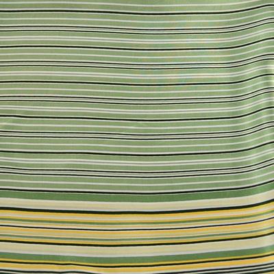 Šátek s bižuterií Letuška Light - zelený pruhovaný - 5
