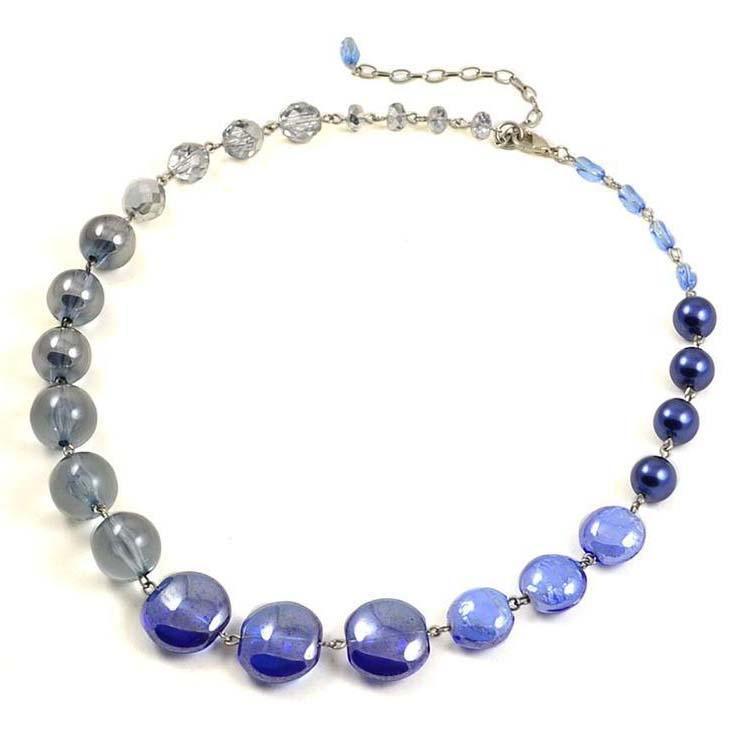 Náhrdelník Glorie 34bm001-60.71 - modrý