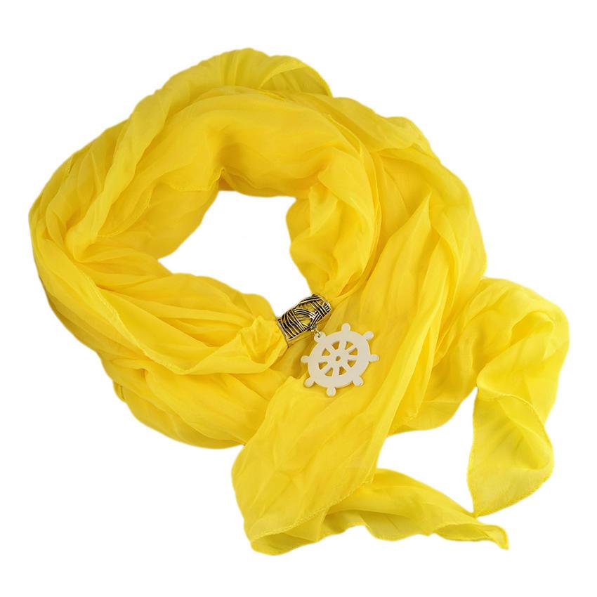 Šála Nautica 279up001-10 - žlutá s kormidlem