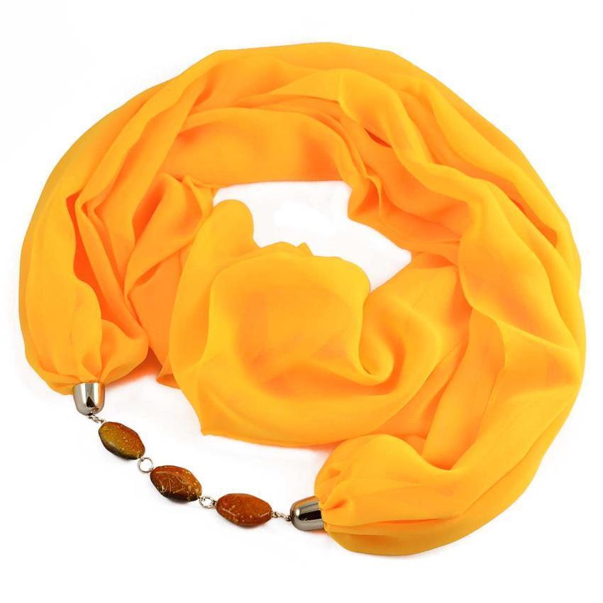 Šála s bižuterií Extravagant 396ext001-10 - žlutá