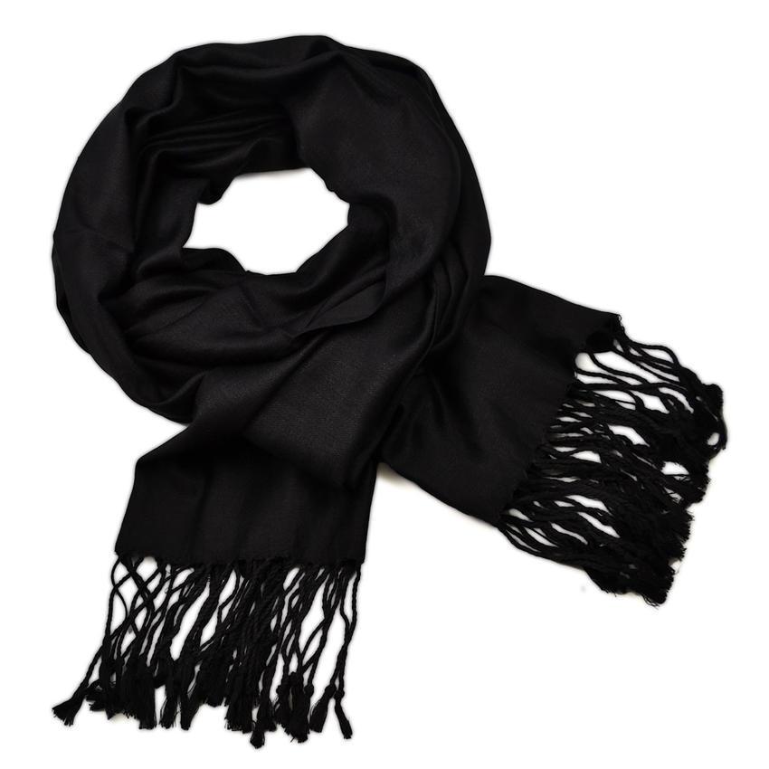 Šála teplá 69cz001-70b - černá