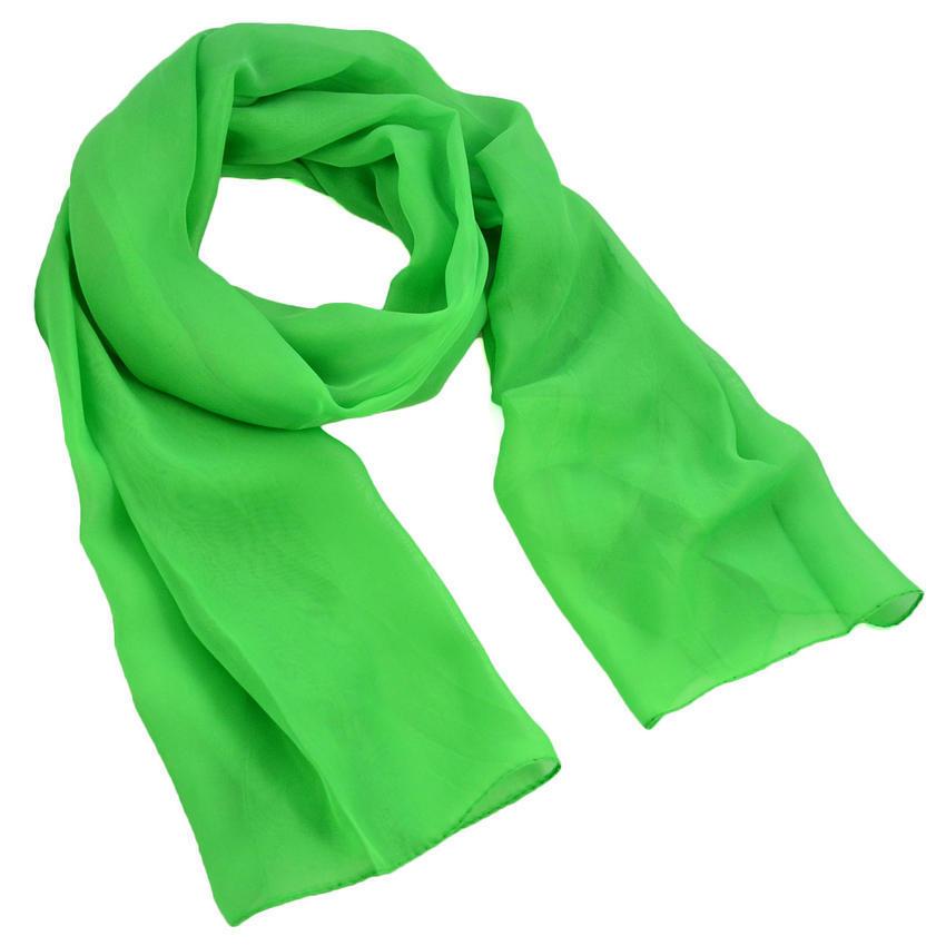 Šála vzdušná - zelená jednobarevná