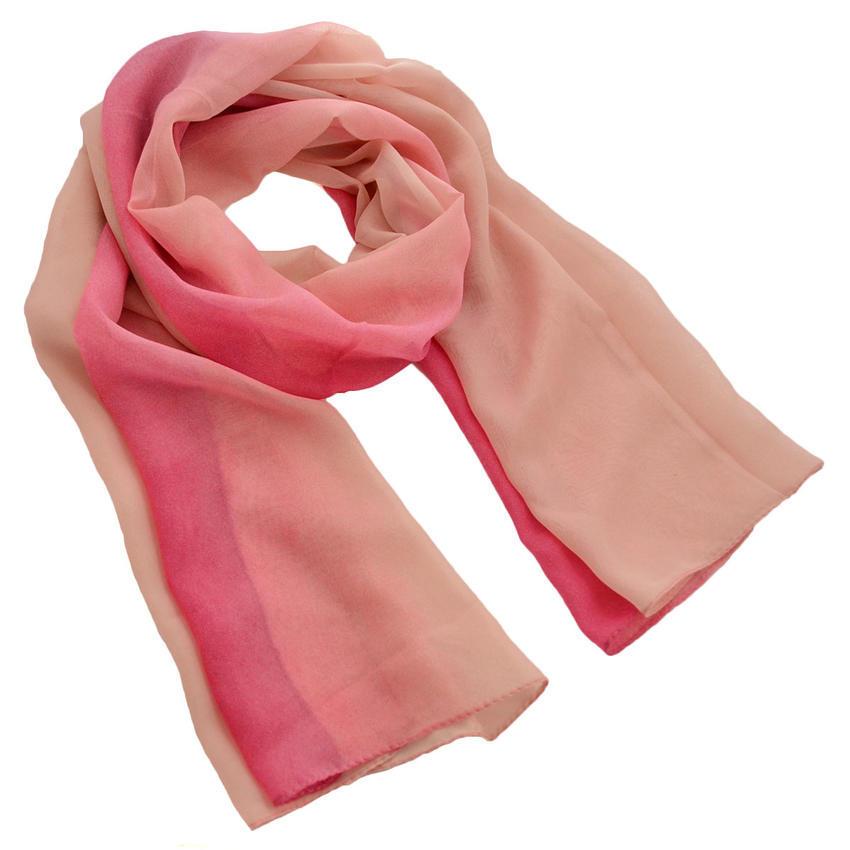 Šála vzdušná - růžové ombre