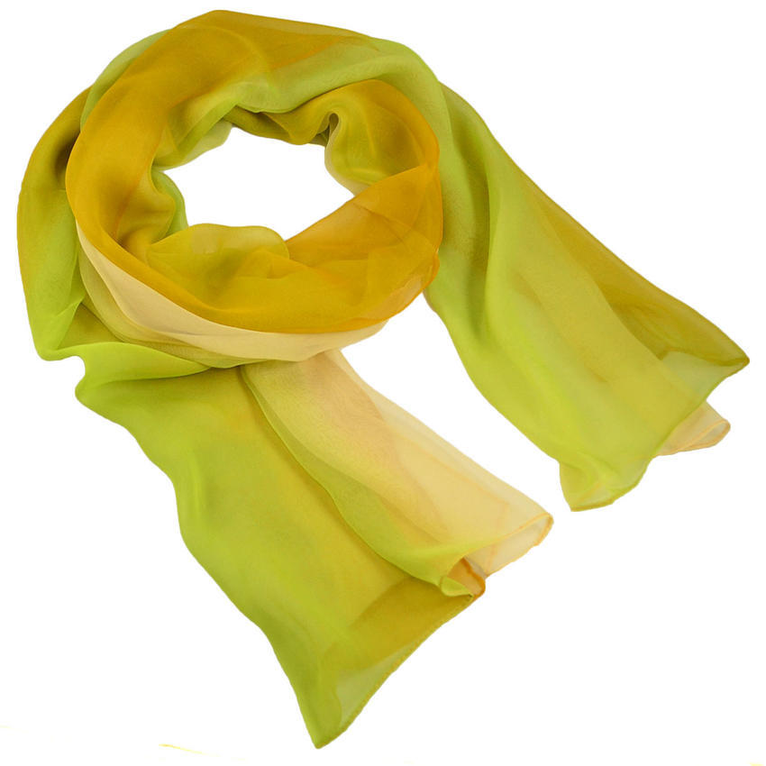 Šála vzdušná - zelenožluté ombre - Bijoux Me! 986b64223a