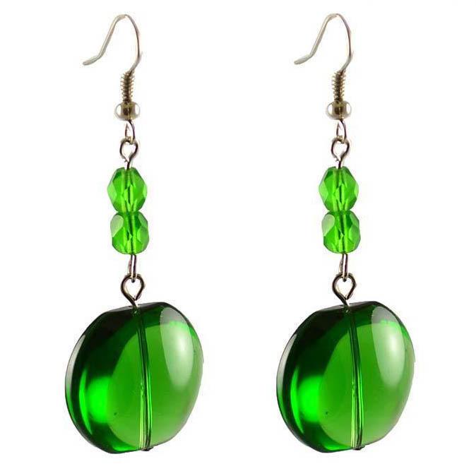 Náušnice 22bm001-50 - zelené