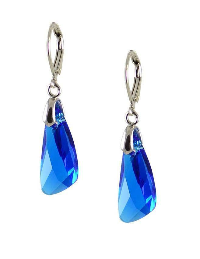 Náušnice Swarovski Elements Wing 713akt6690-23-30 - modré - Bijoux Me! f86d6d82491
