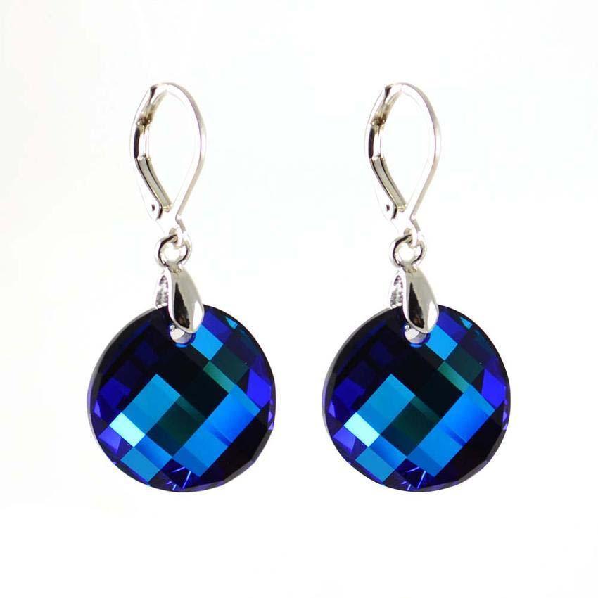 Náušnice Swarovski Elements Twist 713akt6621-18-30 - tmavě modré f9565d6619f