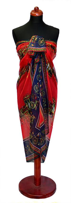 Pareo dámské Astarte par009-20.30 - červené