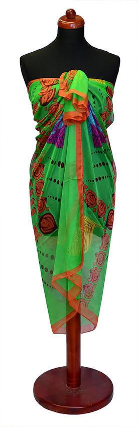 Pareo dámské Astarte par009-50 - zelená