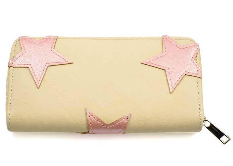 Peněženka pen03-14.23 - béžová s hvězdičkami