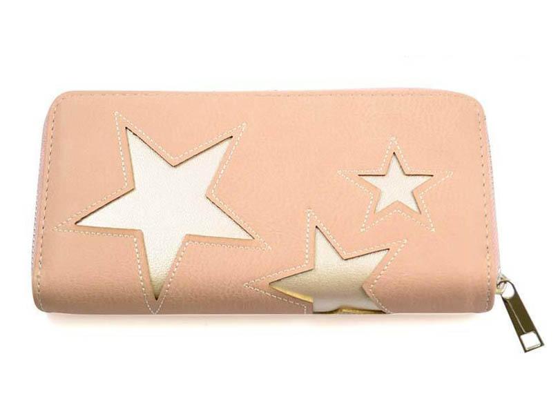Peněženka pen03-23 - růžová s hvězdičkami