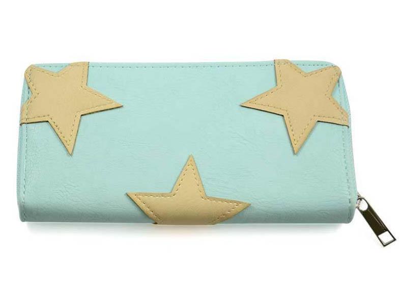 Peněženka pen03-54 - mentolová s hvězdičkami