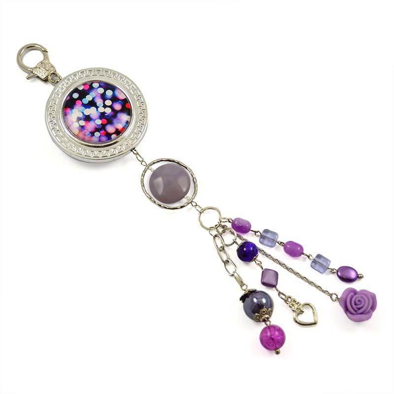 Klíčenka - přívěsek na kabelku pr003-35 - fialová