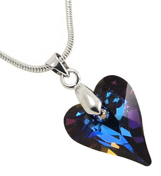 Přívěsek Swarovski Elements Srdce WildHeart 339akt6240-17-39ab - fialový