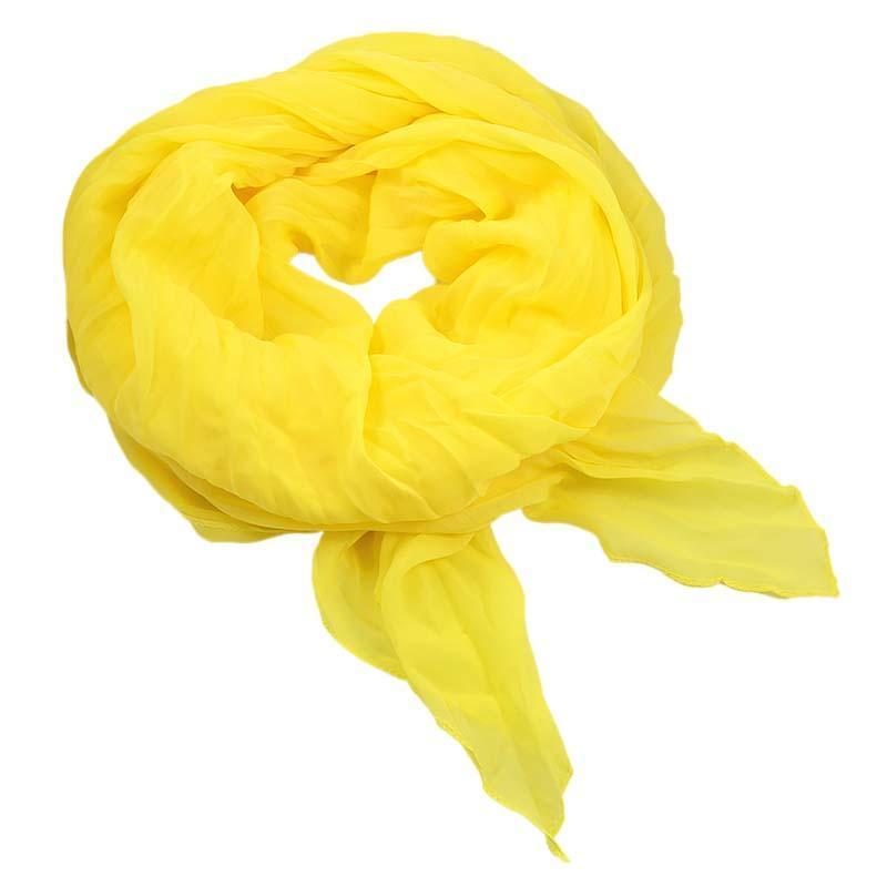 Šála bavlněná Classic 69cl001-10 - žlutá