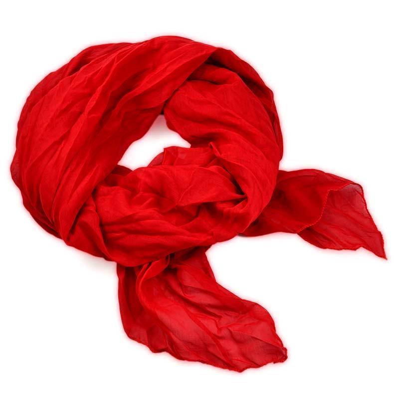 Šála bavlněná Classic 69cl001-20 - červená