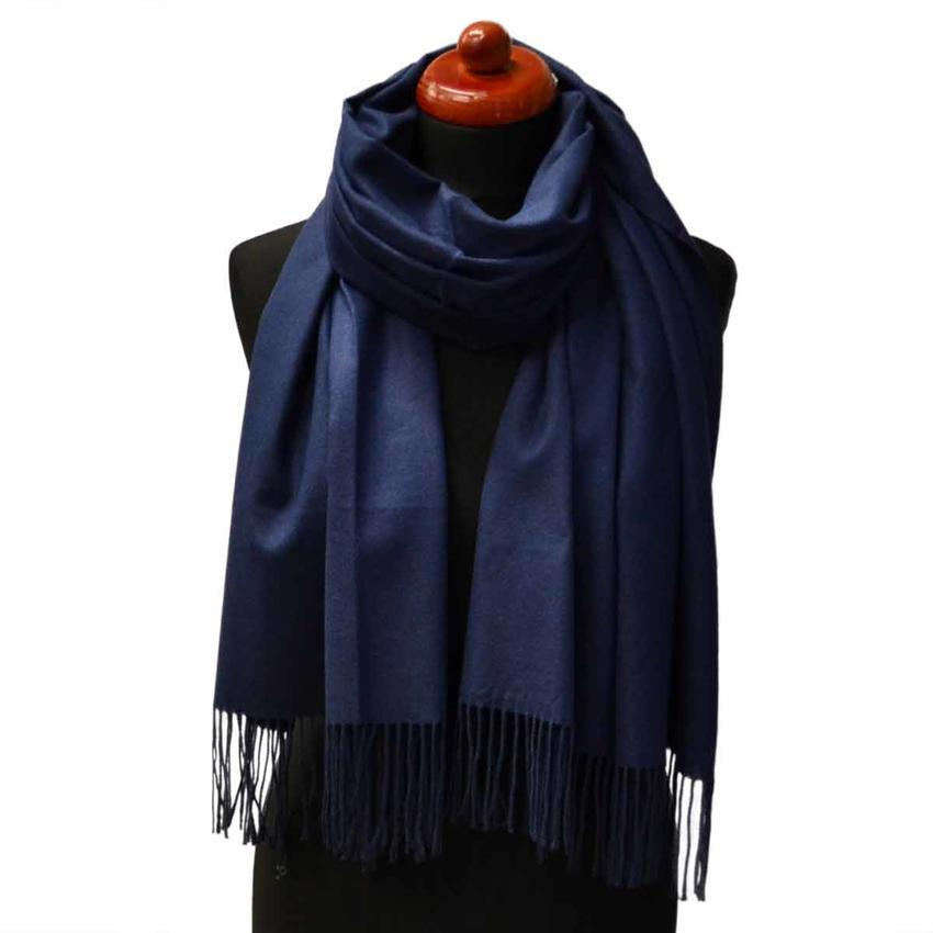 Šála kašmírová - tmavě modrá - Bijoux Me! 375fe9f8e7