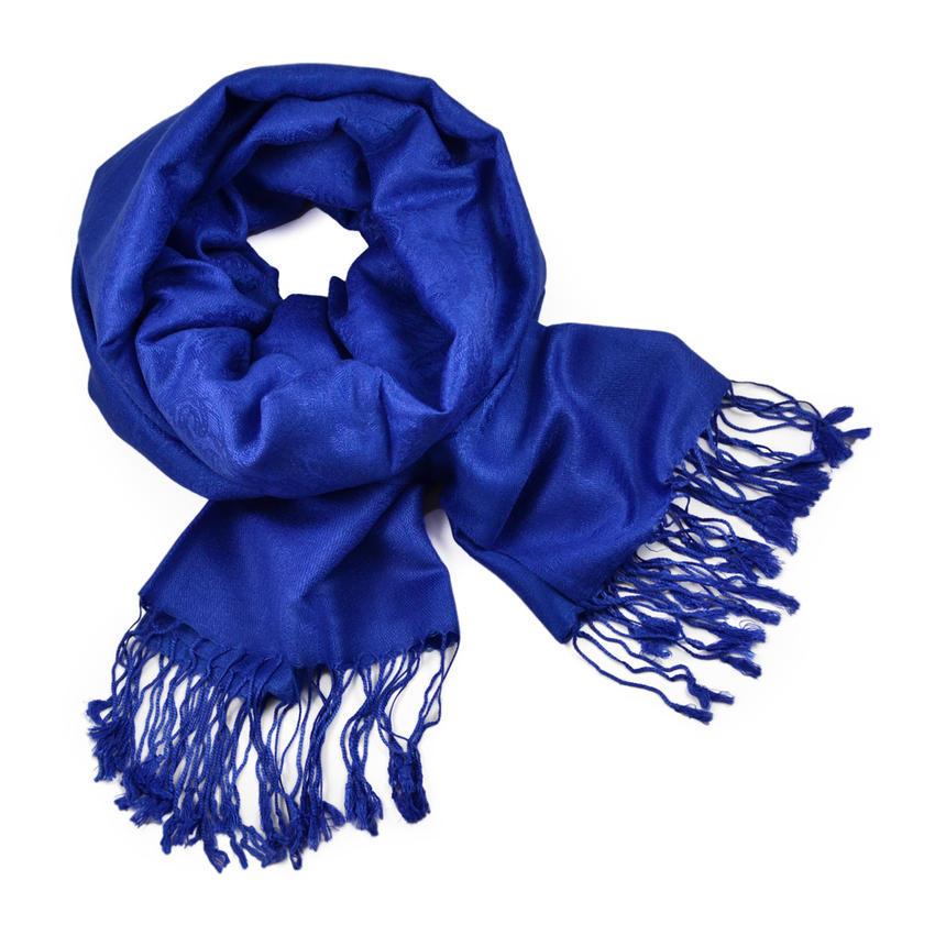 Šála teplá 69cz001-30 - modrá jednobarevná