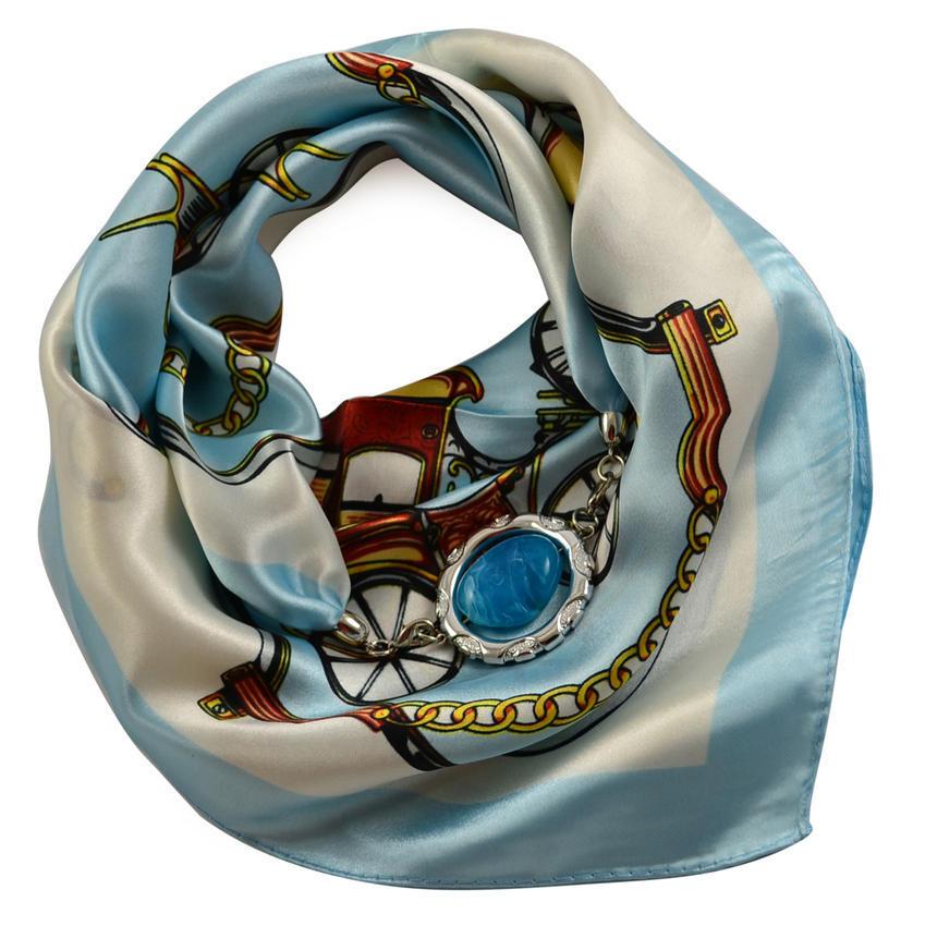 Šátek s bižuterií Stella 245ste009-01.31 - modrobílý
