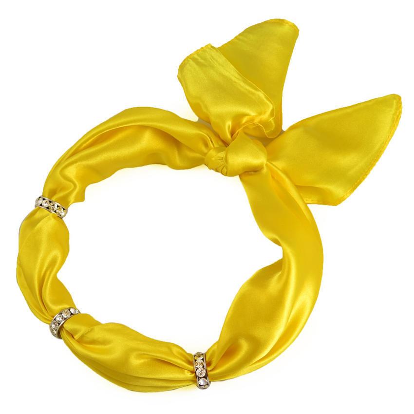 Šátek s bižuterií Sofia 245sof001-10 - žlutý