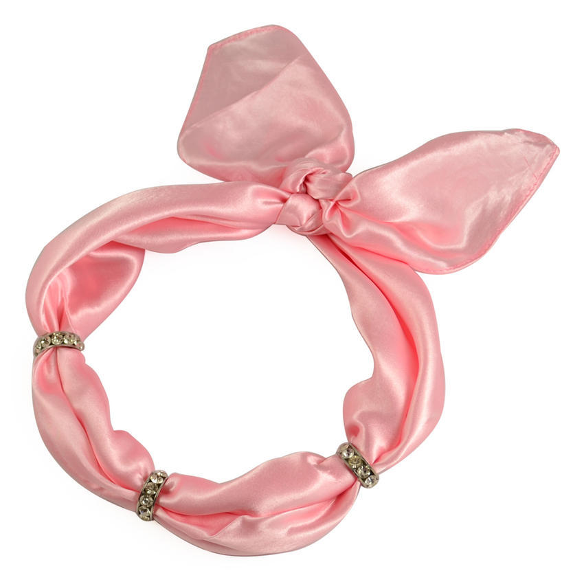 Šátek s bižuterií Sofia 245sof001-23 - růžový