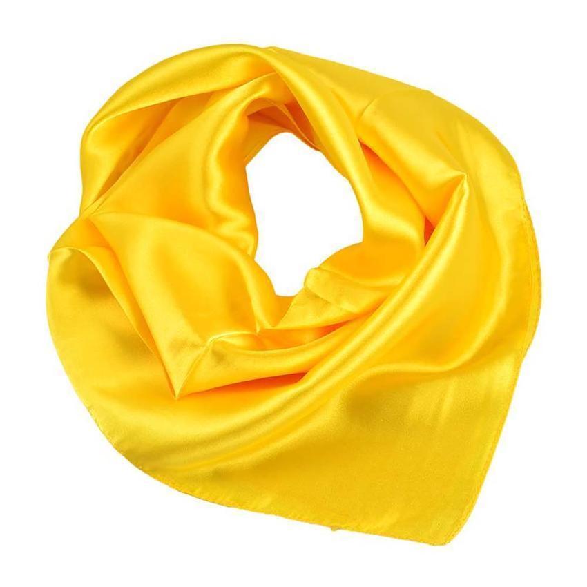 Šátek saténový 63sk001-10 - žlutý