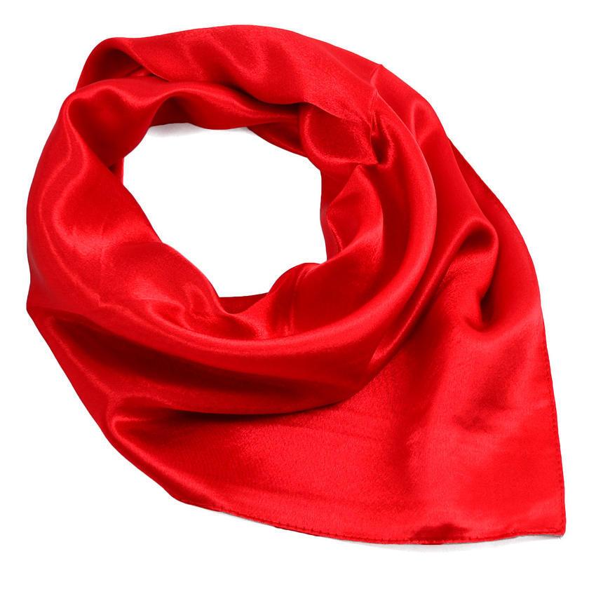 Šátek saténový 63sk001-20a - jasně červený