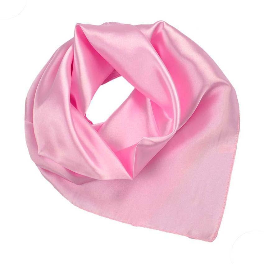 Šátek saténový 63sk001-23 - růžový