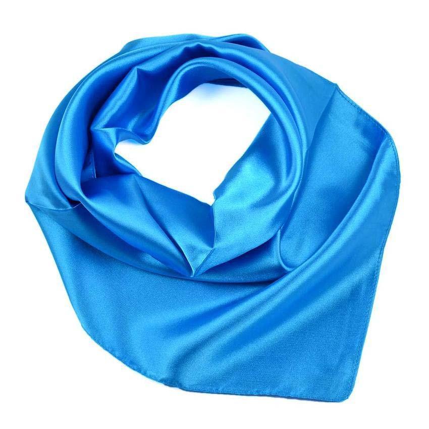 Šátek saténový 63sk001-30 - modrý