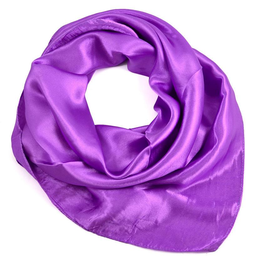 Šátek saténový 63sk001-35a - jasně fialový