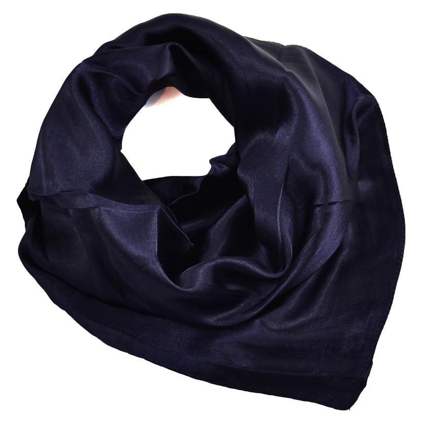 Šátek saténový 63sk001-36 - tmavě modrý