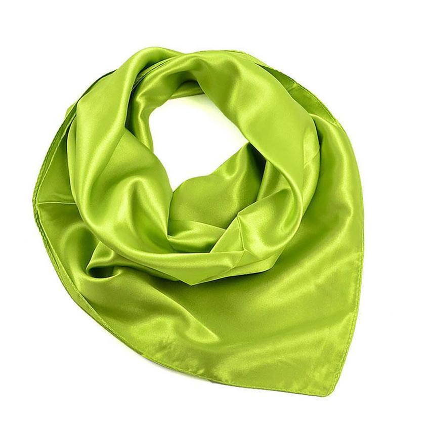 Šátek saténový 63sk001-51 - zelený