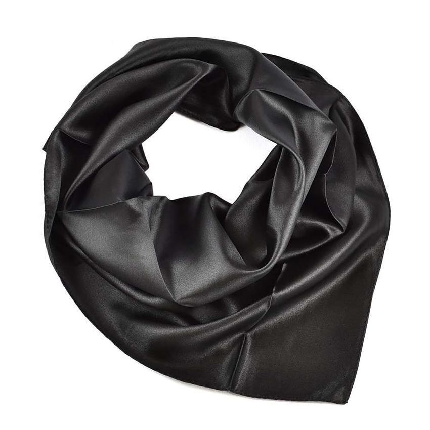 Šátek saténový 63sk001-70 - černý