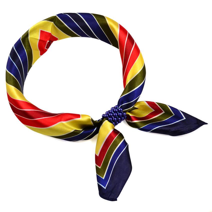 Šátek s bižuterií Letuška - modrožlutý