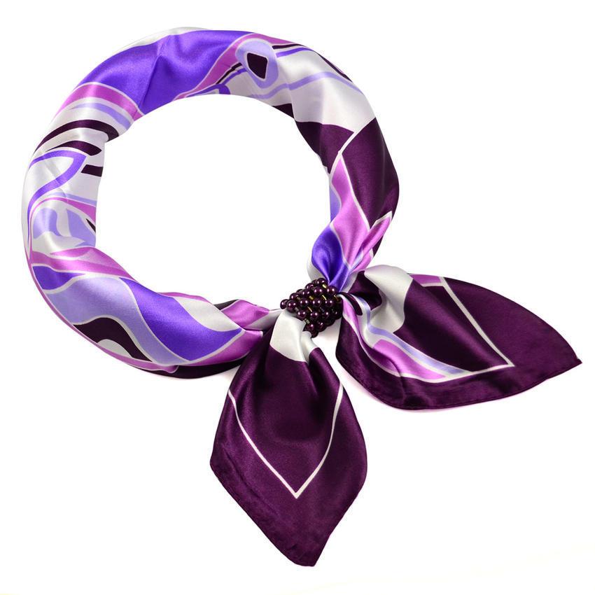 Šátek se sponkou Letuška Light - fialový