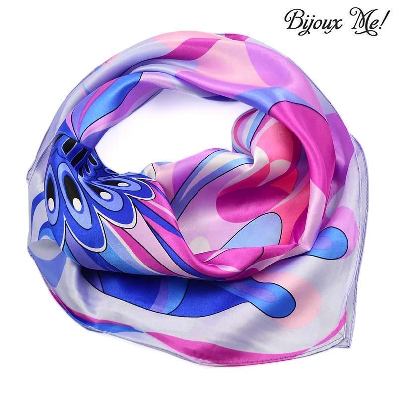 Šátek saténový 63sk005-35.31 - fialový, motýlek