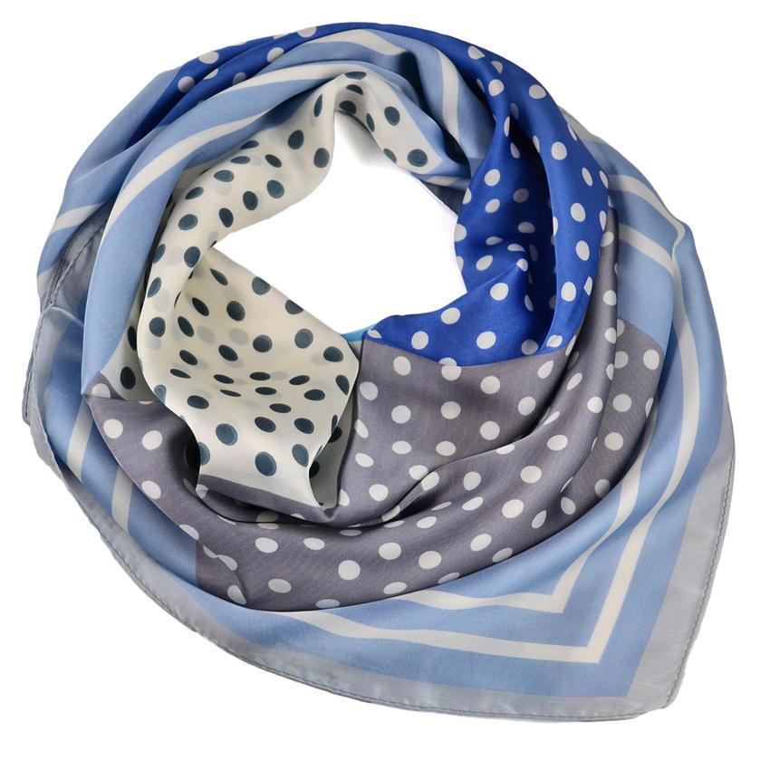 Šátek - šedomodrý