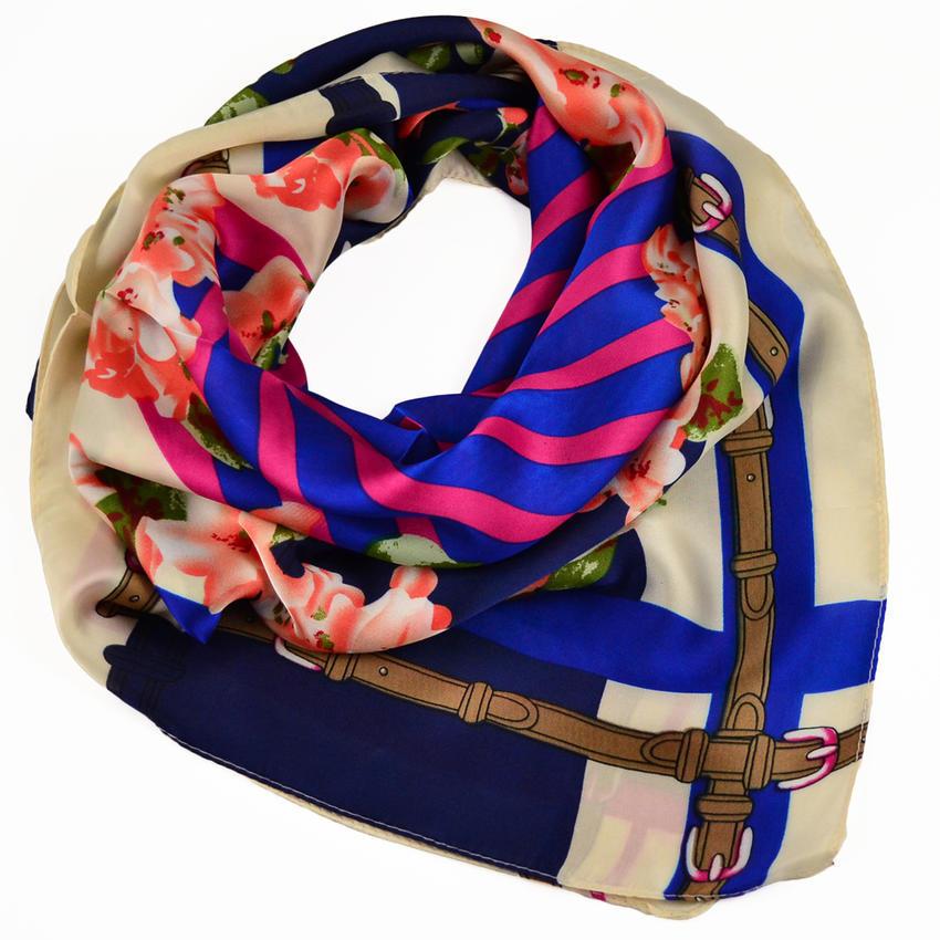 Šátek - modrobarevný
