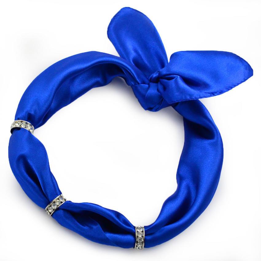 Šátek s bižuterií Sofia - modrý