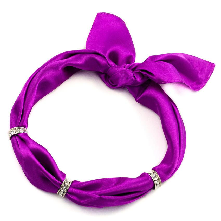 Šátek s bižuterií Sofia - fialový