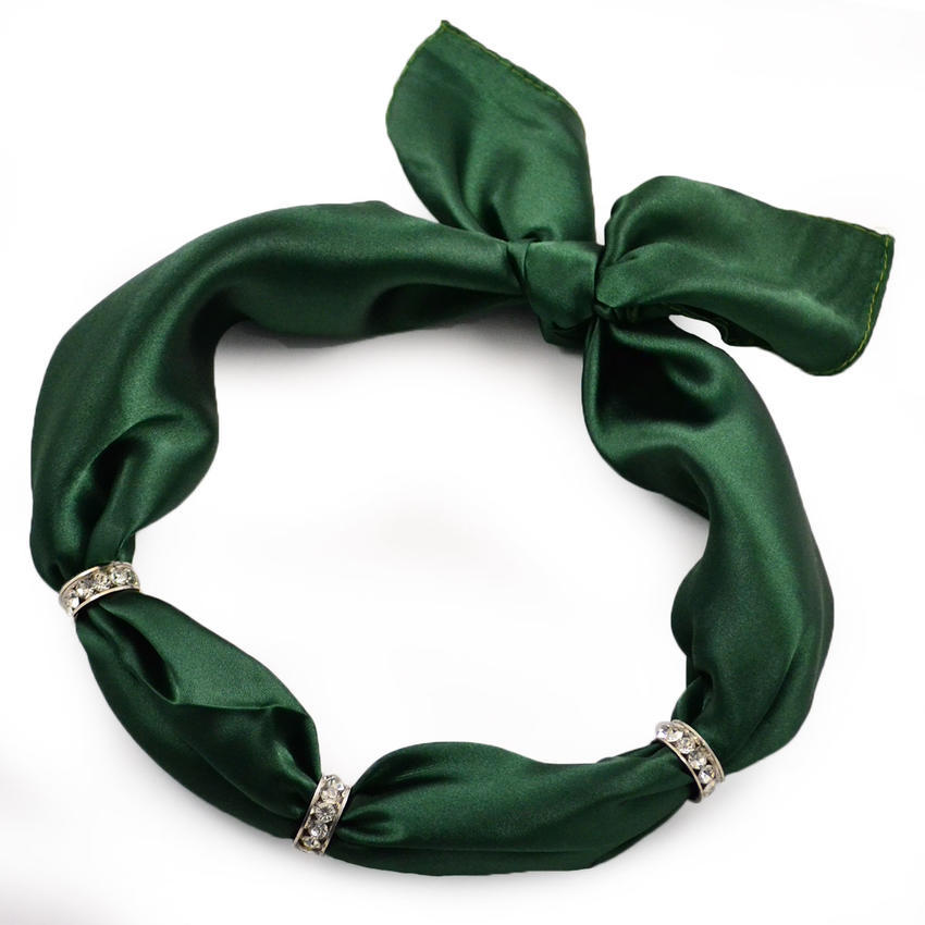 Šátek s bižuterií Sofia - zelený