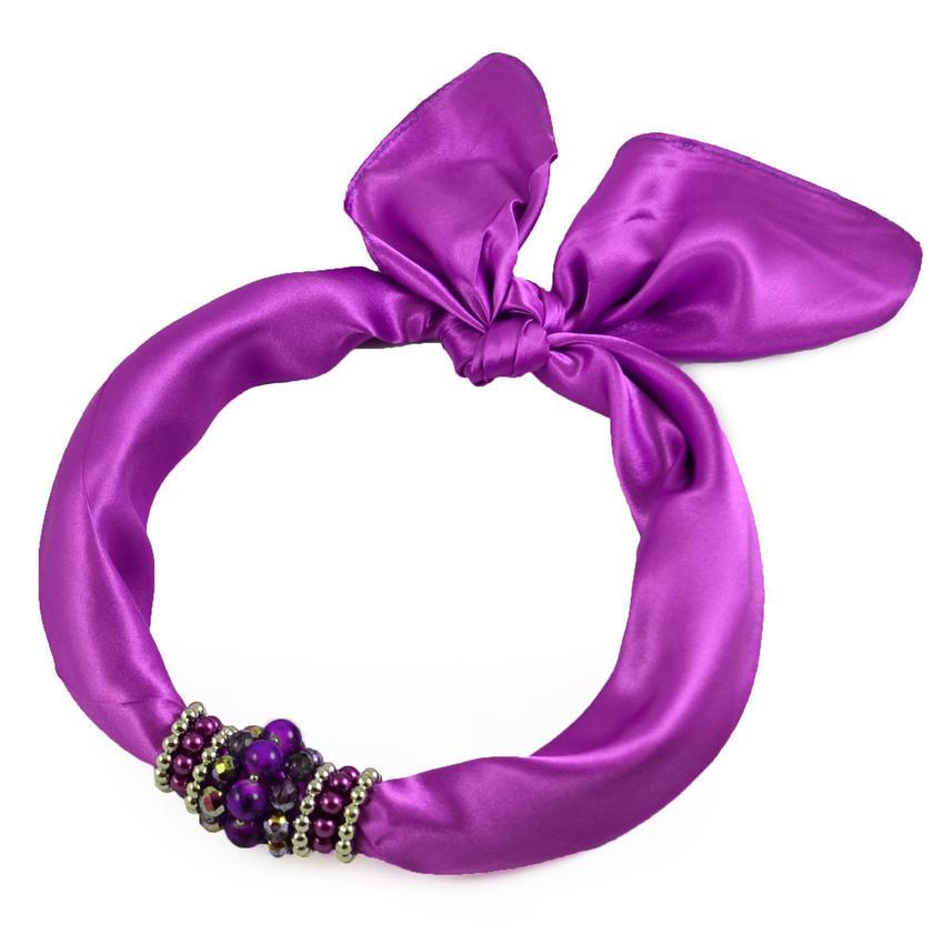 Šátek s bižuterií Letuška 299let001-35 - fialová