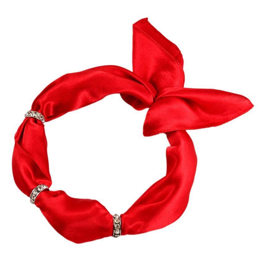 Šátek s bižuterií Sofia 245sof001-20 - červený