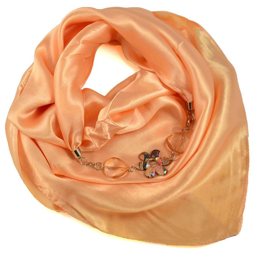 Šátek s bižuterií Stella - meruňkový