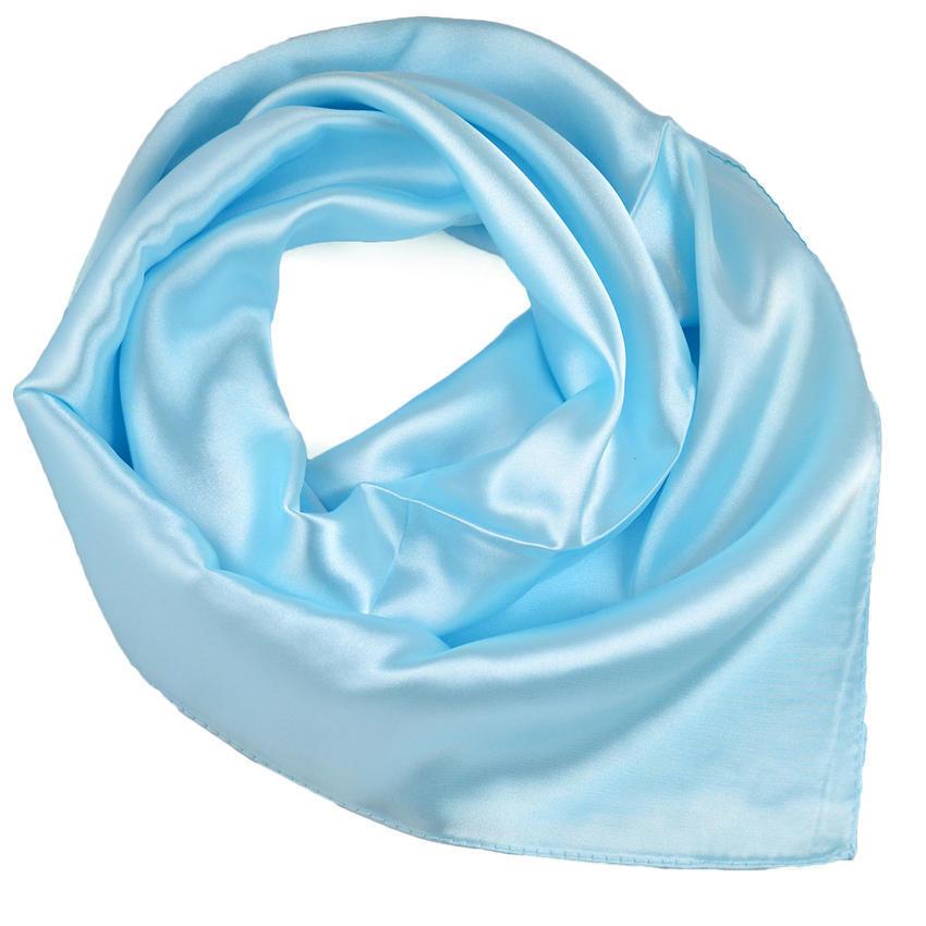Šátek saténový - bledě modrý