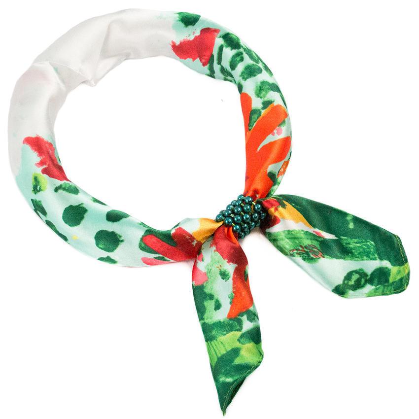Šátek se sponkou Letuška Light - zelený