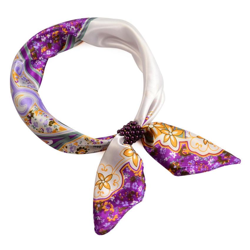 Šátek s bižuterií Letuška - fialový