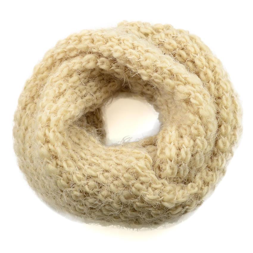 Tunelová pletená šála 69tz001-14d - béžová